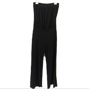 Arden B. Sleeveless black pant romper
